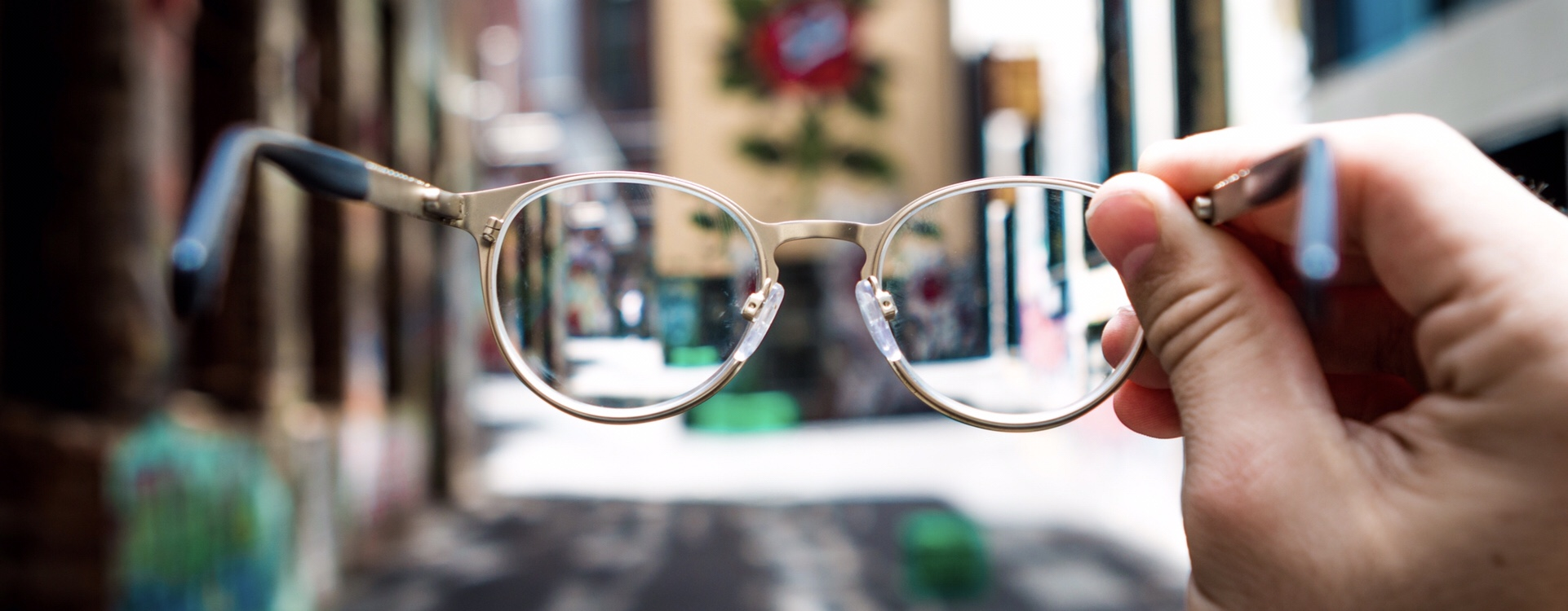glasses out of focus